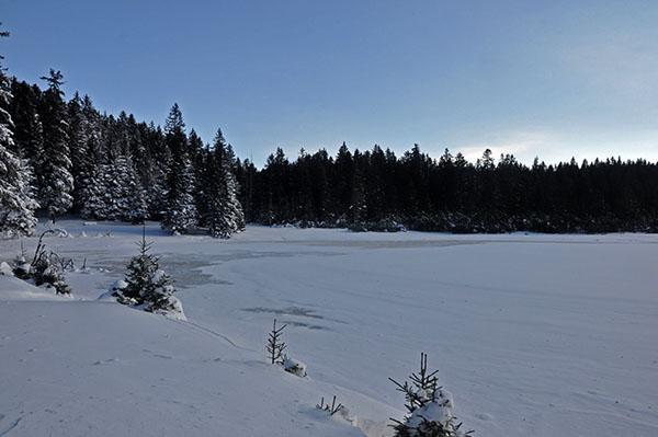 Črno jezero na Pohorju pozimi