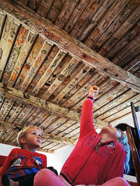 Slomškova soba, Vuzeniški strop