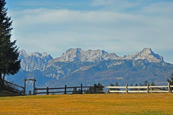 Menina planina, razgled na Kamniško Savinjske Alpe