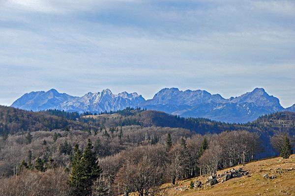 Razgled na Alpe, Menina planina