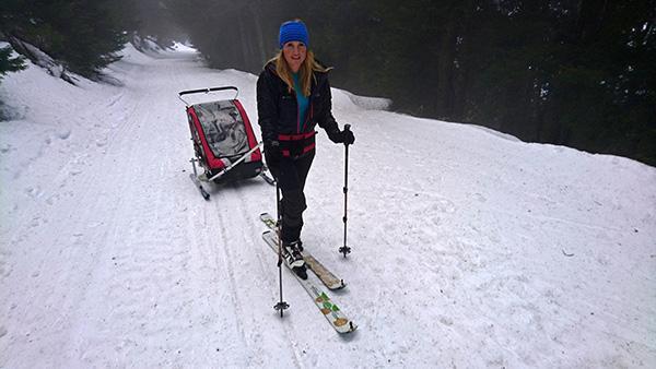 S športnim vozičkom na Črni vrh