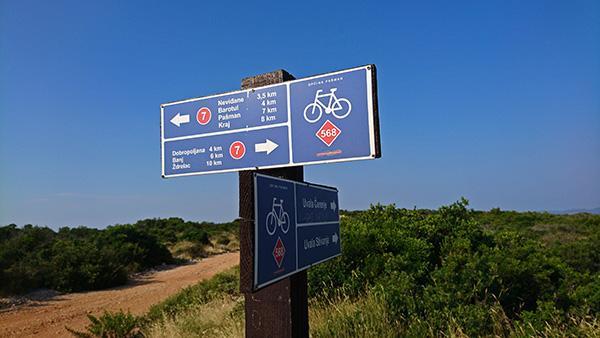 Smerokazi za kolesarske poti, Pašman