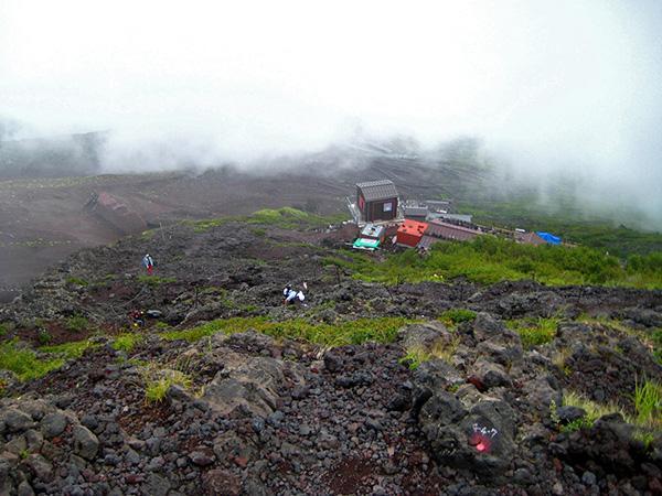 Koče med potjo proti vrhu Fujija