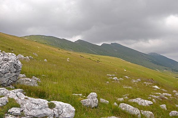 Pogled na greben Karavank