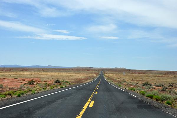 Neskončno ravne ceste Arizone