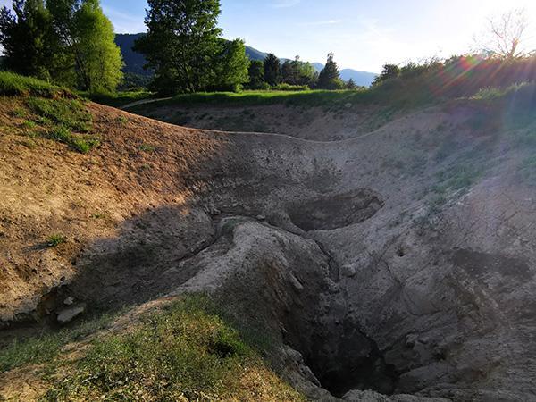 Cerkniško jezero v sušnem obdobju