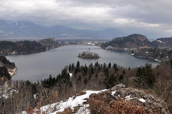 Razgled na Blejsko jezero