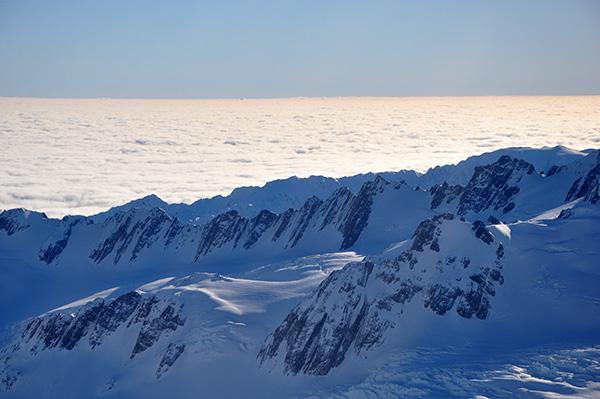 Ledeniki na južnem otoku Nove Zelandije