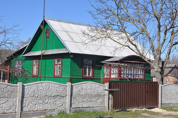 Tipična hiša na podeželju Belorusije