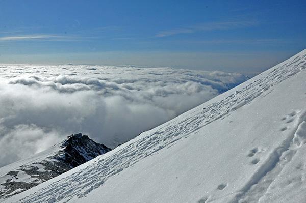 Razgled z zadnjega vzpona tik pod vrhom