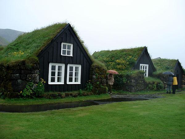 Hiške s travno rušo