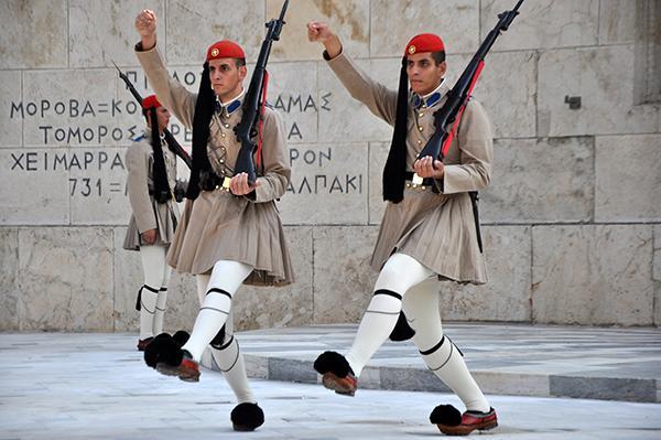 Atene, menjava straže