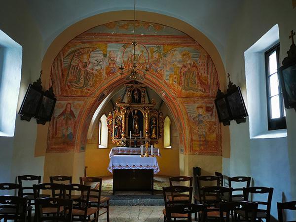 Freska v cerkvi sv. Miklavža