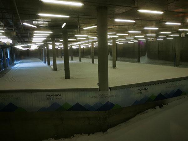 Snežni tunel za tek na smučeh