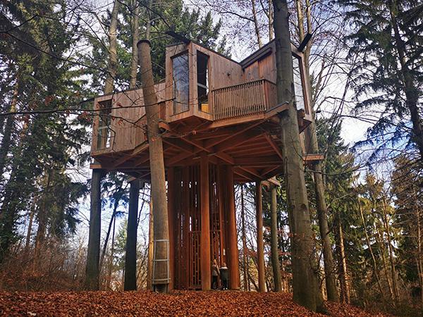 Drevesna hiša v Mestnem gozdu